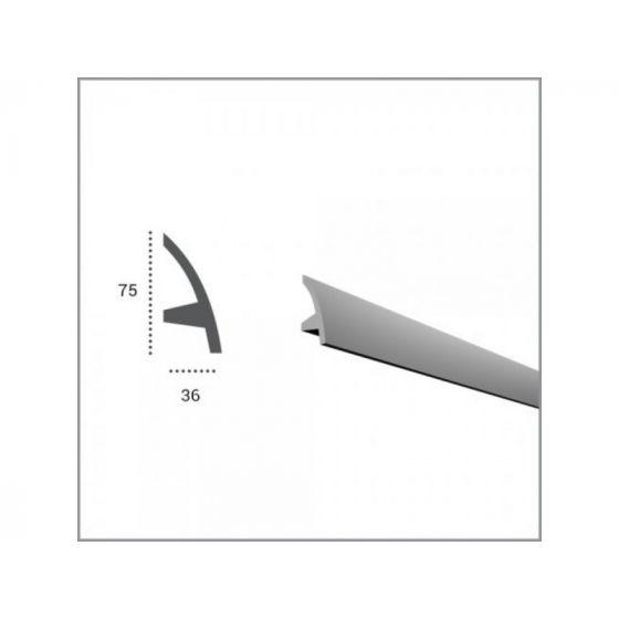 Profil pentru banda LED din poliuretan flexibil KF502F